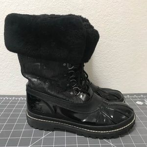 Coach Lenora Fur-Lined Sz 9 Winter Boots GUC